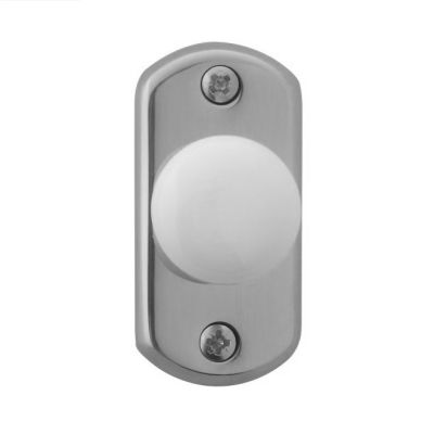 40000304-wardrobe-pull-on-small-plate-with-white-porcelain-knob-in-satin-nickel